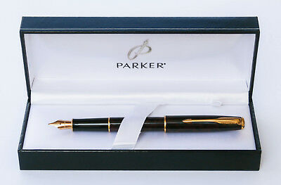 Parker sonnet Premier laque Rough GT Rose fountain pen in parker gift box