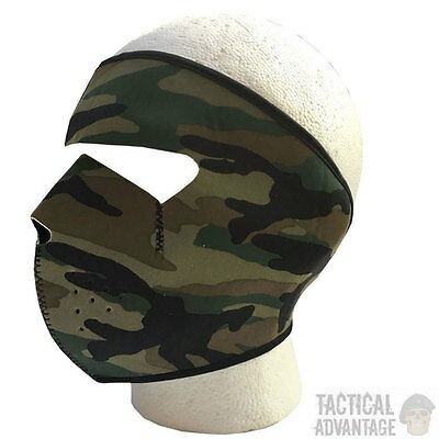 Camouflage Neoprene Mask Full Face Cover Airsoft Hunting DPM Camo Ski Smowboard
