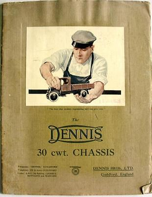 DENNIS 30 Cwt Chassis Lorry Bus Van Commercial Sales Brochure 1926