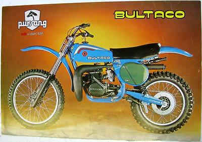 BULTACO Pursang Mk II 250/370 Motorcycle Sales Sheet 1977 #Mod. no. 206 y 207