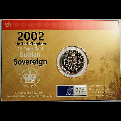 2002 Gold Bullion Sovereign (22 carat gold) Uncirculated
