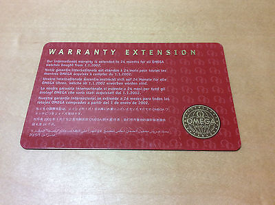 OMEGA Warranty Extension Card - All Languages - Item for Collectors