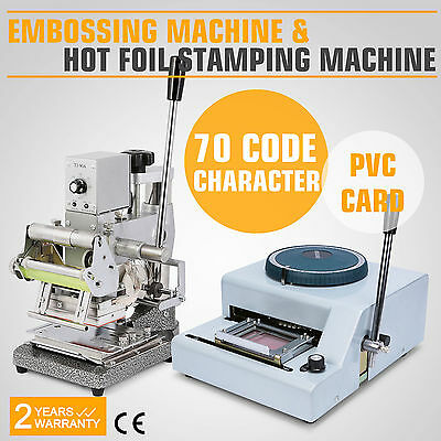 Embossing Machine Hot Foil 300w Tipper Manual Credit Adjustable Commercial