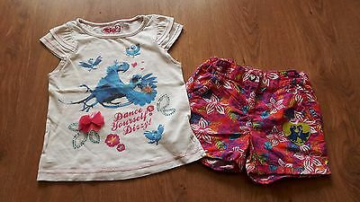 Girls Summer Set T-shirt and Shorts Rio 2, size 104cm / 3-4 years