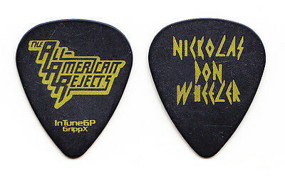 All American Rejects Nick Wheeler Black Tour Guitar Pick
