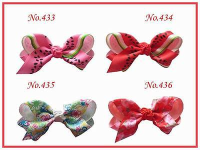 150 BLESSING Good Girl Costume Boutique 3.5 Inch ABC Hair Bows Clip 474 No.