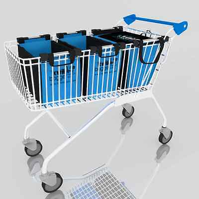 Reusable Trolley Bags : Grocery Shopping Supermarket - Small Size By Kwik Bagger