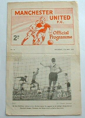 May 1963 Manchester Utd RES v Newcastle Utd RES Central League Programme - A086
