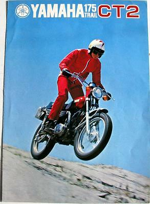 YAMAHA 175 Trail CT2 Motorcycle Sales Brochure 1970s #MCL 175CT