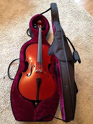Student 1/4 Size Cello with Case