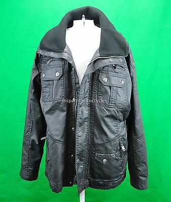 Harley Davidson Mens Waxed Cotton Out Of Reach Cafe Racer Classic Jacket Size XL