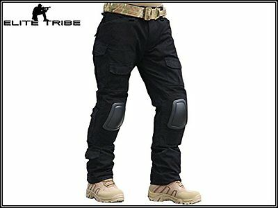 Military Airsoft Hunting BDU Pants Combat Gen2 Tactical Pants with Knee Pads BK