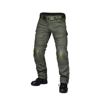 Military Airsoft Hunting BDU Pants Combat Gen2 Tactical Pants with Knee Pads -GE