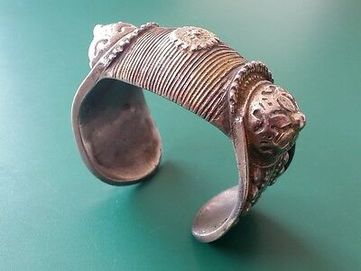 Medieval Ottoman silver alloy Bracelet with rosette and gilding 19th century