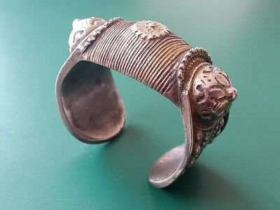 Medieval Ottoman silver alloy Bracelet with rosette and gilding 19th century • CAD $88.53