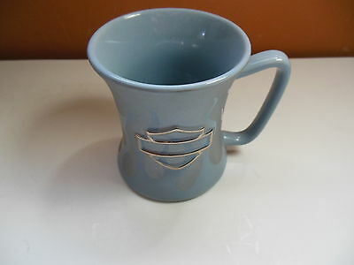Harley Davidson Coffee Mug Frosted Flames Light Blue/Silver Cup Embossed Logo