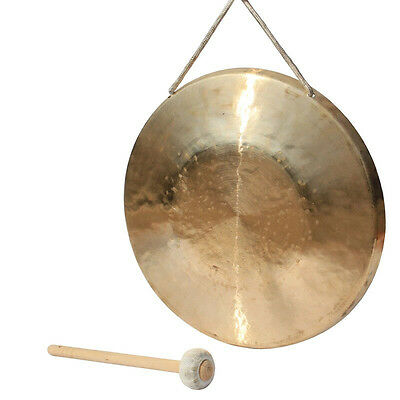 """13.5"""" hand forging gong copper Chinese Musical instrument with hammer low pitch"""