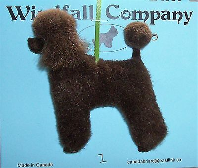 Chocolate French Poodle Dog Plush Christmas Canine Ornament # 1 by WC