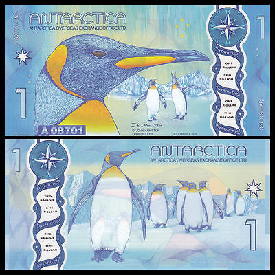 Antartica 1 Dollar, 2015(2016), Polymer, Uncirc,  Penguins  And Free Shipping