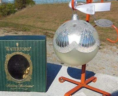 Waterford Holiday Heirloom Nostalgic Peacock Christmas Tree Ball Ornament + Box
