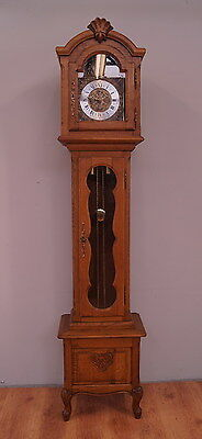 1145 !! French Carved Oak Long Case Grandfather Clock !!