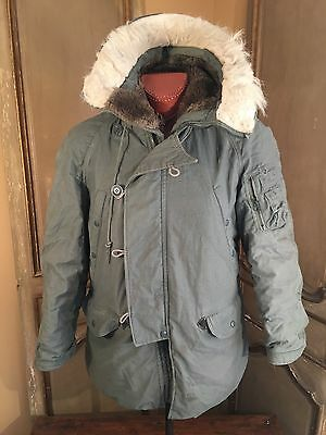 Military Parka Jacket Extreme Cold Weather N3B Jacket Greenbrier Ind.Size Small