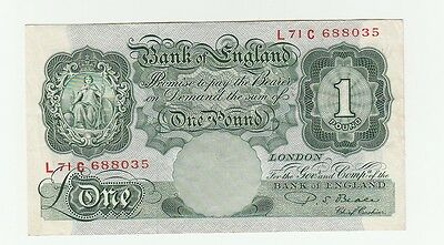 Beale one pound note 1950. lovely crisp note.