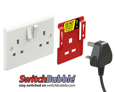 Pack of 2 x SwitchBubble Power Protector - Keep your stuff switched on