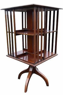 Quality Small Edwardian Revolving Bookcase