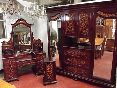 Stunning Antique Shapland & Petter Marquetry Bedroom Suite • £3,745.00