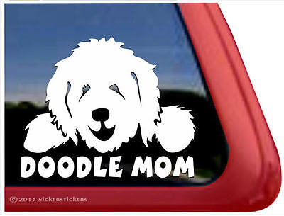 DOODLE MOM ~ Goldendoodle Labaradoodle Vinyl Dog Window Decal Sticker