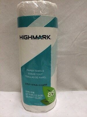Highmark Kitchen Roll Paper Towels White - 30 Rolls W/ 85  2-Ply Sheets Per Roll