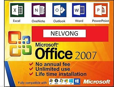 Microsoft Office 2007 - Includes Digital Copy & Product Key *Unlimited Uses*