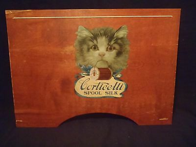"antique Corticicelli Spool Silk lapboard w/advertising logo 22 3/4"" X 16 3/8"""
