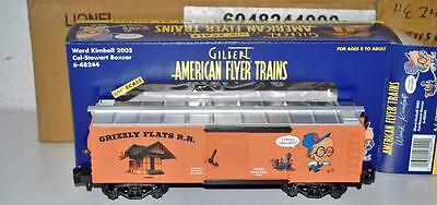 American Flyer 6-48244 Ward Kimball Grizzly Flats RR Cal Stewart Boxcar Disney