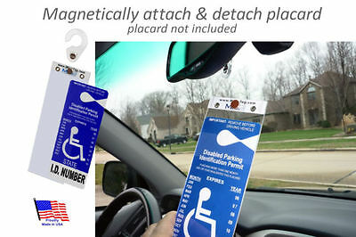 Mirortag™Gold Hard Plastic Handicap Tag Protective Holder. Magnetically On & Off
