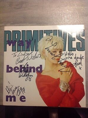 "Signed The Primitives Way Behind Me 12"" Single - AUTOGRAPHED By All Four"