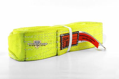 EE2-903 X12FT Nylon Lifting Sling Strap 3 Inch 2 Ply 12 Foot USA Package of 2