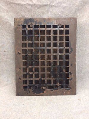 Vintage Cast Iron Stamped Steel Floor Heat Grate Register Vent Old 2145-16