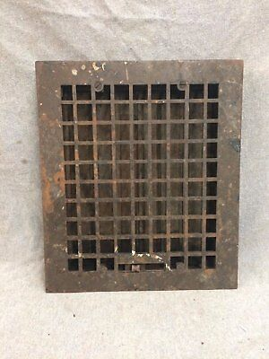 Vintage Cast Iron Stamped Steel Floor Heat Grate Register Vent Old 2147-16