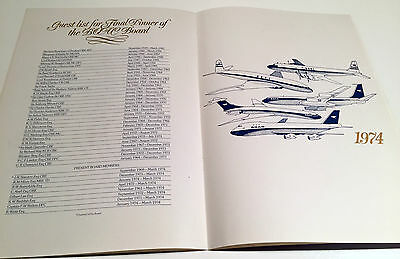 Boac Menu Final Board Meeting 1974 Incl Guest List Stainton Guthrie Granville