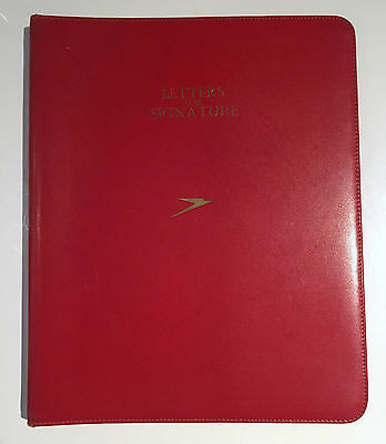 Boac Red Leatherette Letters For Signature Folder With Paper Insert B.o.a.c.