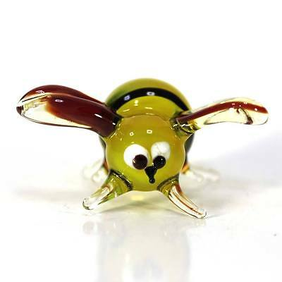 "Blown glass figurine ""Bee"". Russian Murano. Handmade.#55-3"