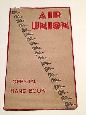 Air Union Official Handbook Route Map Golden Ray Berline Breguet