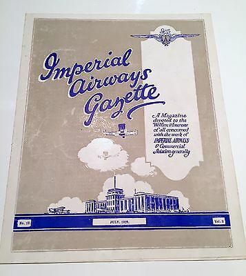 Imperial Airways Gazette July 1929 Argosy