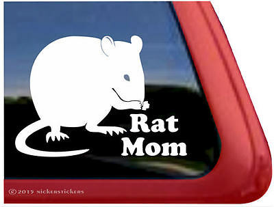 My Rat Thinks You're Gross, Too | All-Weather Vinyl Window Decal Sticker
