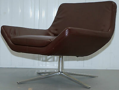 Jeffrey Bernett £3185 Me84 B&b Italia Metropolitan Brown Leather Armchair