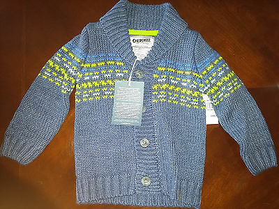 NWT Cherokee size 24M sweater knitting pattern boy fast shipping from Canada