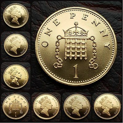 BRITISH PROOF 1p ONE PENNY COIN. CHOOSE YOUR YEAR. FREE UK POST!