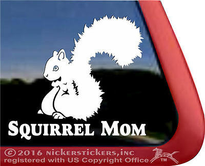 Squirrel Mom | Quality All-Weather Vinyl Car Truck House Window Decal Sticker